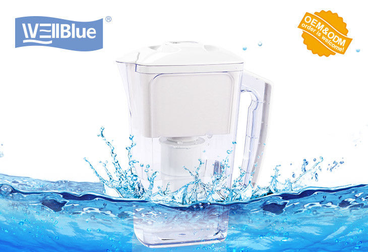 BPA Free Plastic 2.5L Alkaline Water Filter Pitcher With 1PC Replacement Filter