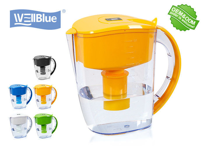 Countertop Alkaline Water Filter Pitcher Reduce Chlorine Customized Color